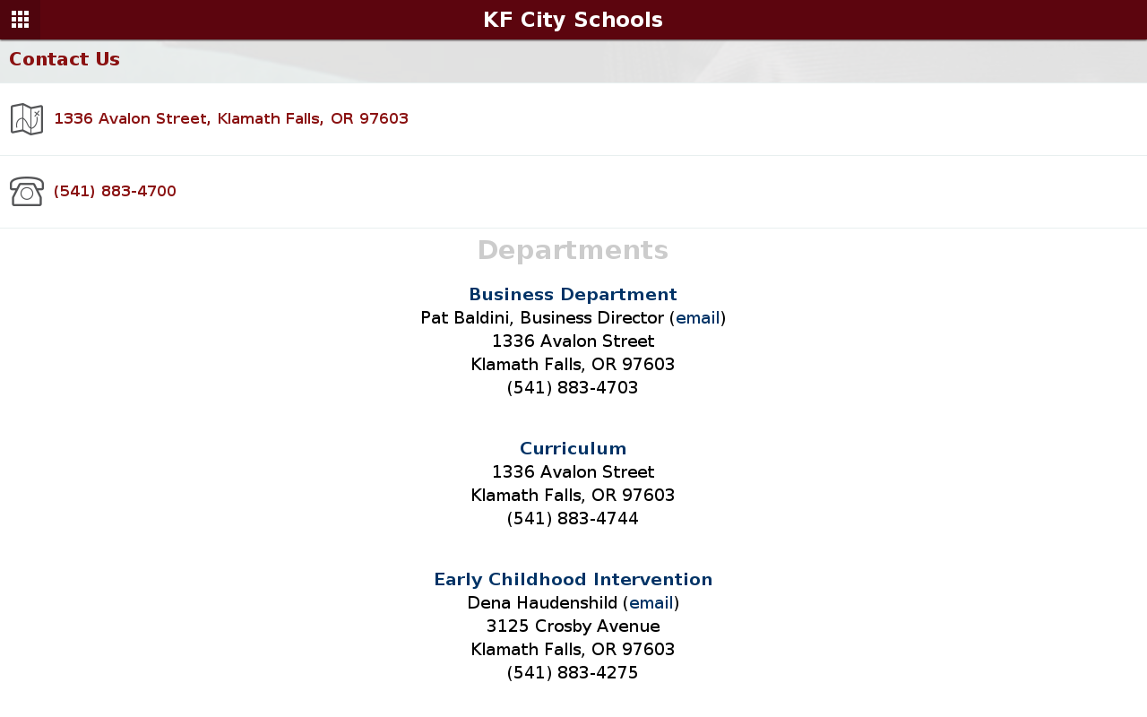 Klamath Falls City Schools- screenshot