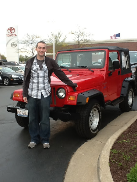 Photo: Greg Martens would like congratulate Tom on the purchase of this 1997 Jeep Wrangler (with only 55,000 miles) Thanks Tom!