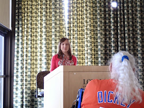 "Photo: Dr. Jennifer Conary ""Twists of Fate: The Role of Chance in Dicken's Novels"""