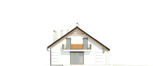 Nowinka VI z garażem i wiatą bliźniak A1-BL1 - Elewacja lewa