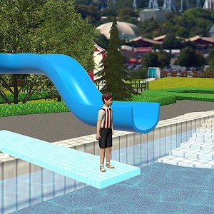 Image result for water slide downhill rush android