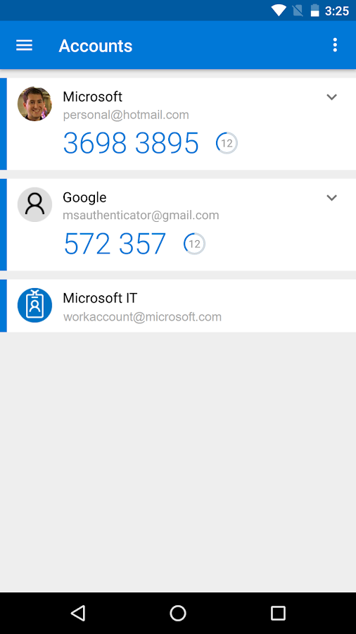 Microsoft Authenticator- screenshot