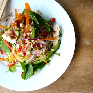Thai-style Chicken, Coconut and Vermicelli Salad.