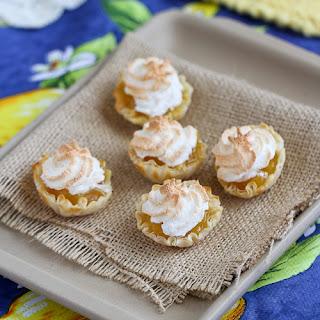 Mini Lemon Meringue Pie Fillo Tartlet.