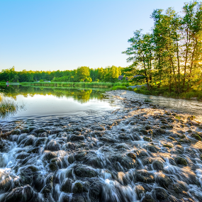 Stream Noise by Manu Heiskanen - Uncategorized All Uncategorized ( water, sweden, stream, summer, sun )