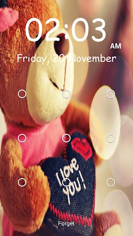 android Teddy Bear Pattern-Bildschirm Screenshot 6