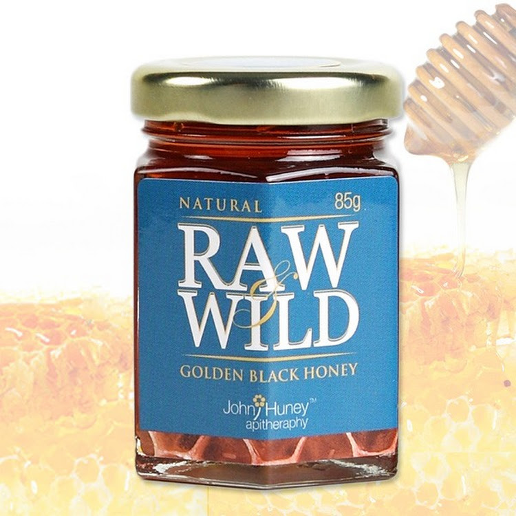 John Huney Raw Wild Golden Black Honey 85gm