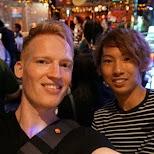 Matt and Toshiki in Tokyo, Tokyo, Japan