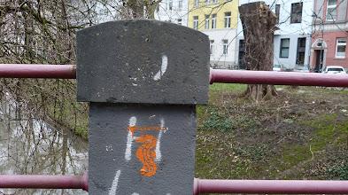 """Photo: Stencil; """"Freischwimmer""""; Unknown Artist"""