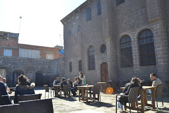 Photo: Tea shop next to the Armenian church in Amed