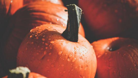 several pumpkins