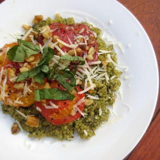 Pesto Quinoa With Roasted Tomatoes