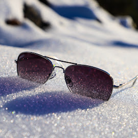 Crystals Edge  by Isabelle  Grieve - Artistic Objects Glass ( sunglasses, beautiful, crystals, light, snow, artistic, purple, focus, elegant, canon )