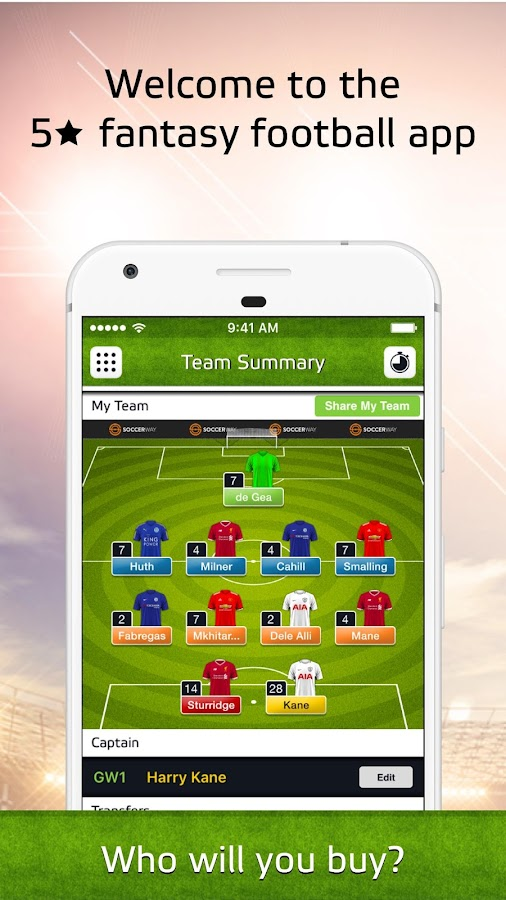 Soccerway Fantasy iTeam- screenshot