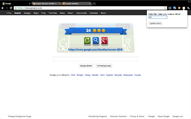 Google Olympic Doodle Score Pwn!