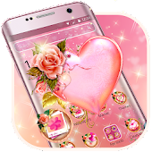Pink Rose Heart Theme