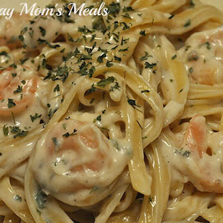 Easy Shrimp Fettuccine Alfredo