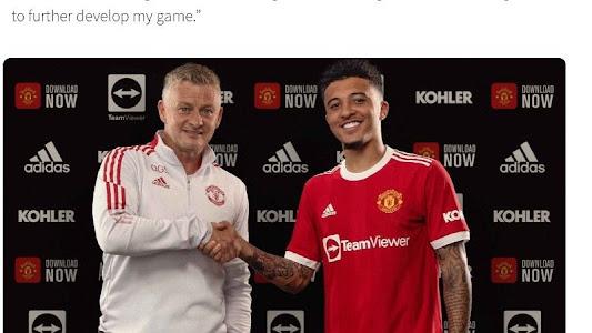 Resmi Jadi Pemain Manchester United, Jadon Sancho: Ini Tempat Saya Sesungguhnya - Bolasport.com