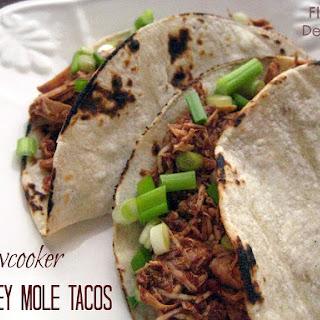 Gluten-Free Slowcooker Turkey Mole Tacos