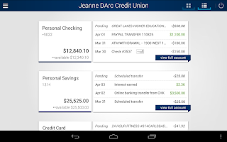 Screenshot of Jeanne D'Arc Mobile Banking
