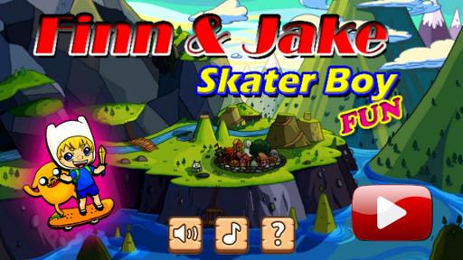 Finn and Jake Skater Boy Fun