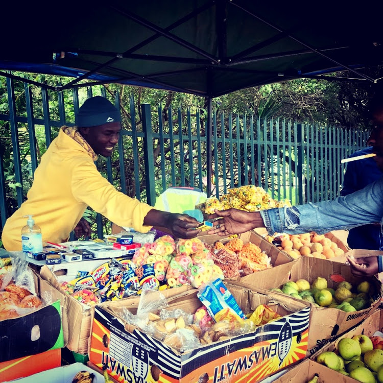 Johannesburg street vendor Jacob Ndoro hopes the coronavirus epidemic will end soon, otherwise his family might go hungry.