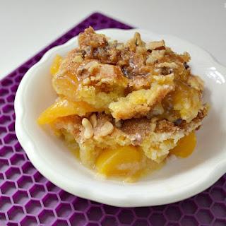 Easy Peach Cobbler Cake.