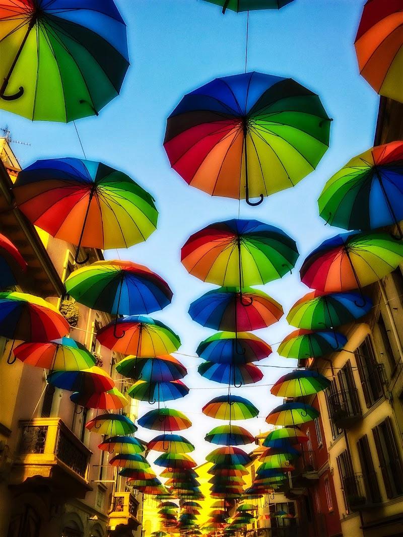 Arcobaleno di ombrelli di Cenati Gino