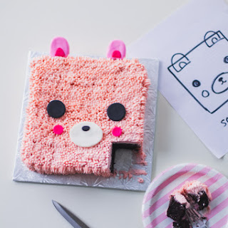 One Bowl Chocolate Square Bear Cake Recipe