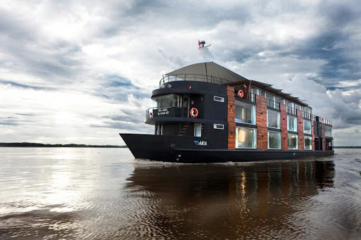 Aria's 11-day cruises of the northern Amazon River includes guided tours of Lima, the Peruvian capital, and of the renowned Incan treasure Machu Picchu.