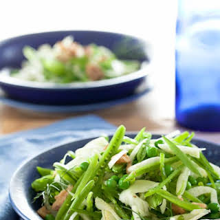 Sugar Snap Pea and Fennel Salad with Apple Cider Vinaigrette.