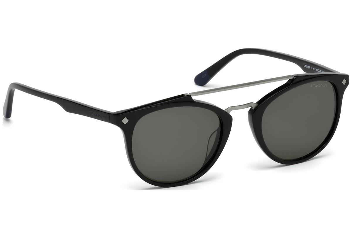 57033563d2 Buy Gant GA7087 C49 01N (shiny black   green) Sunglasses