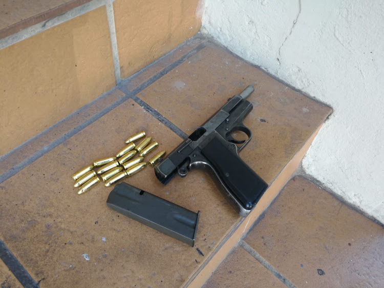 The firearm recovered by police after an attempted hijacking