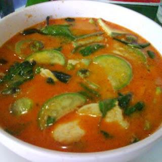 Thai Red Prawn Curry.