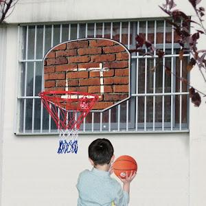 Set cos si minge de baschet pentru perete, 60 x 44 cm