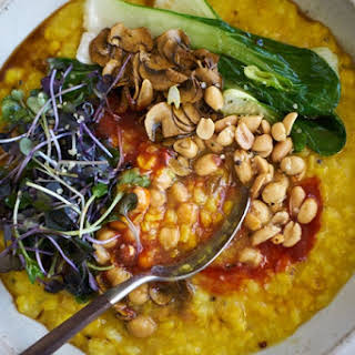 Instant Pot Congee with Brown Rice and Turmeric.