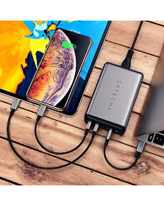 Satechi 75W Dual Type-C PD Travel Charger, Space Grey