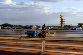 Photo: .........................................................................Mark Caires doing his track prep thing!