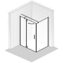 Duschkabinen_Drehtür an Nebenteil mit Seitenwand