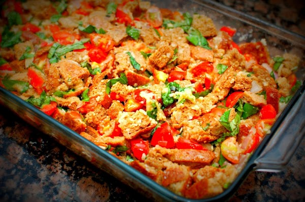 Tomato-basil Bread Pudding Recipe