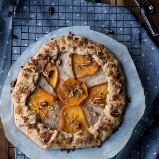 Persimmon Pear Vegan Pumpkin Galette