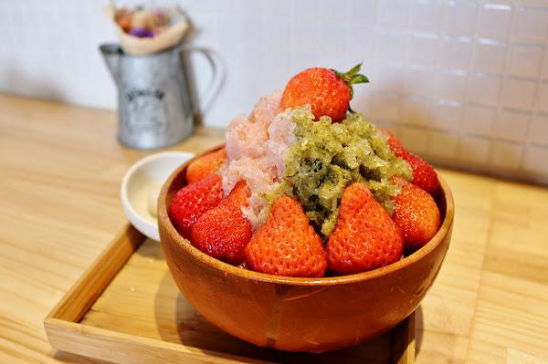 冰ㄉ• かき氷no.2(赤崁東店)-季節限定隱藏版草莓抹茶混奶剉冰.赤崁樓散步甜點