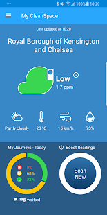 CleanSpace – Air Pollution App- screenshot thumbnail