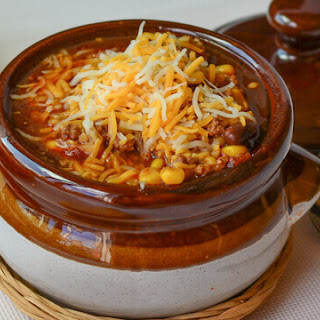 Beefy Mexican Rice Soup.