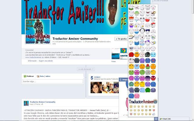 Stickers para Facebook por Traductoramixer.es