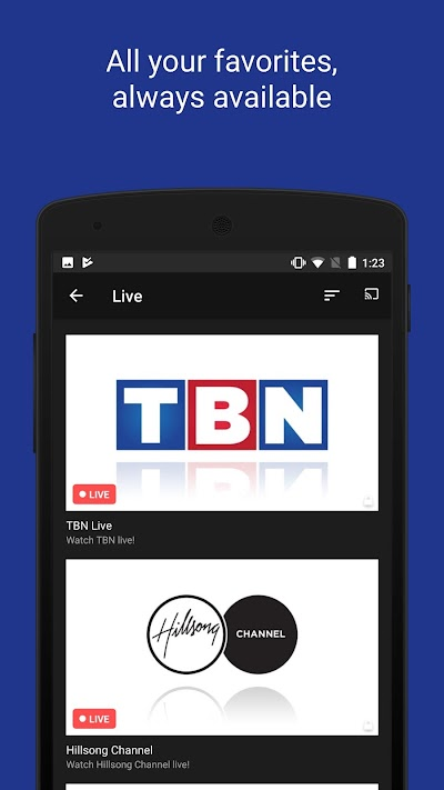 TBN: Watch TV Shows & Live TV APK Download - Apkindo co id