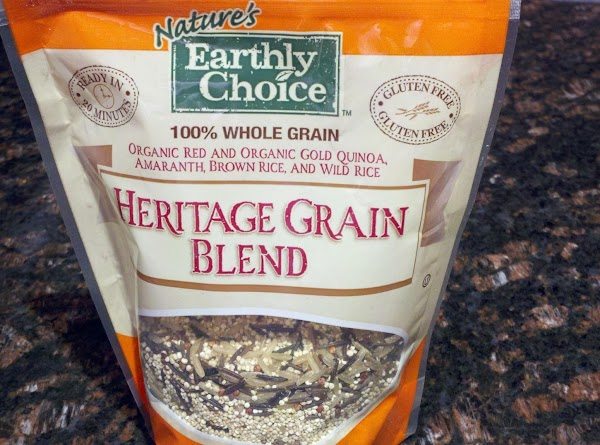 Note: I used Nature's Earthly Choice Heritage Grain Blend. It's a blend of gold...