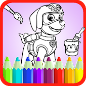 Paww Dog Coloring Patrol Page