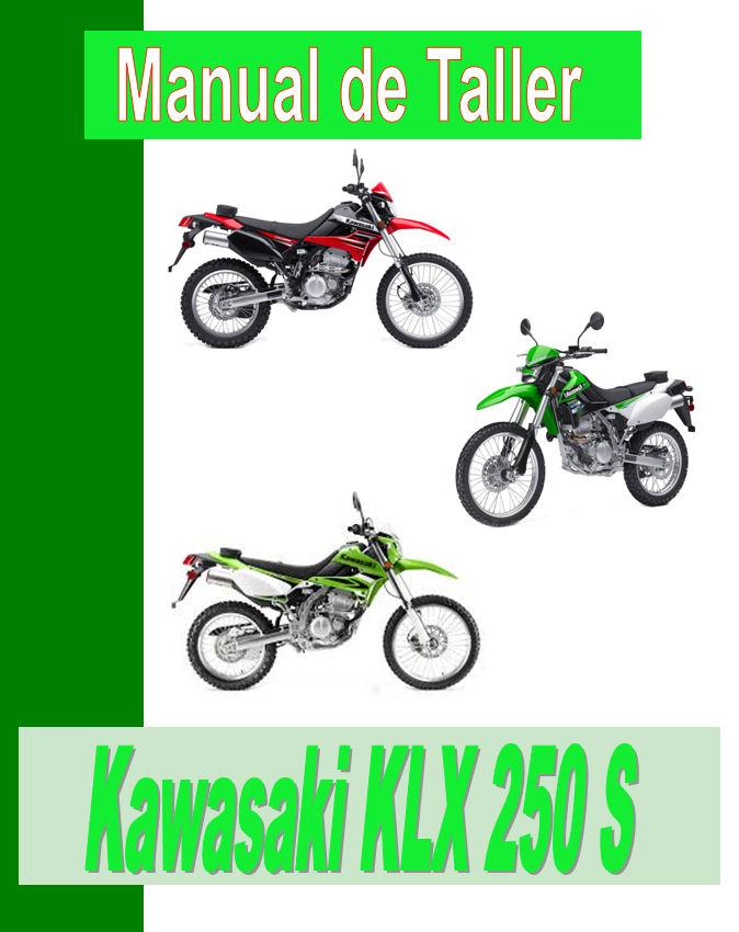 manual kawasaki KLX 250 S manual taller - servicio- mecanica y despiece