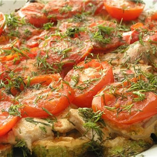 Mushrooms With Tomatoes.